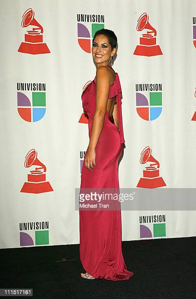 Actress Barbara Mori in the 8th Annual Latin GRAMMY Awards press room at Mandalay Bay on November 8 2007 in Las Vegas Nevada
