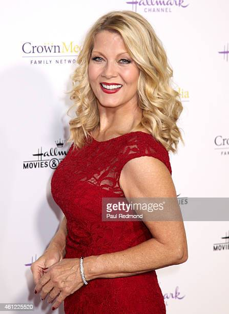 Actress Barbara Niven attends the 2015 Television Critics Association Press Tour Hallmark Channel and Hallmark Movies Mysteries at Tournament House...