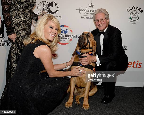 Actress Barbara Niven Glory Search Rescue Dog Category Winner and actor Bruce Boxleitner pose backstage at the American Humane Association's 5th...