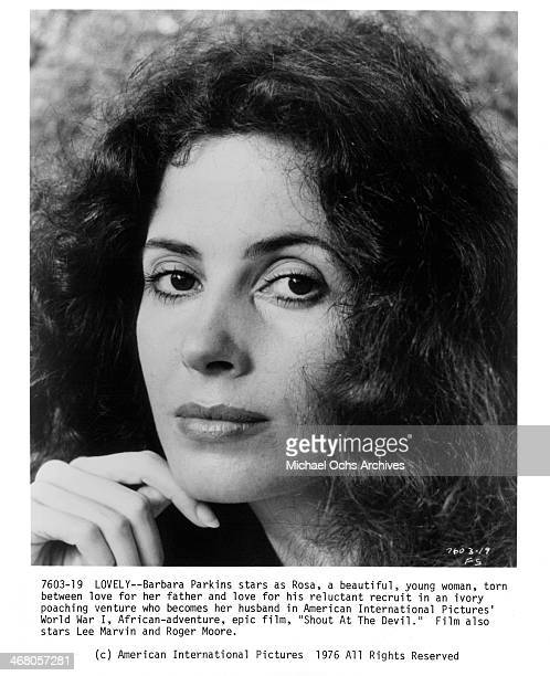 Actress Barbara Parkins poses for the movie Shout at the Devil circa 1976
