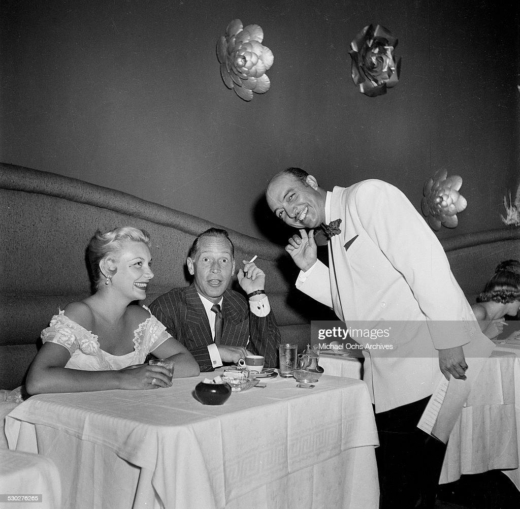Actress Barbara Payton and husband actor Franchot Tone at Mocambo's in Los Angeles,CA.