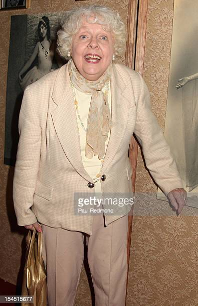 Actress Barbara Perry attends Hollywood Actress Carla Laemmle Celebrates 103rd Birthday at The Silent Movie Theater on October 20 2012 in Los Angeles...