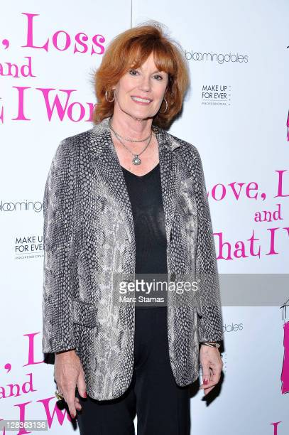 Actress Barbara Rhoades attends the Love Loss And What I Wore two year celebration at B Smith's Restaurant on October 6 2011 in New York City
