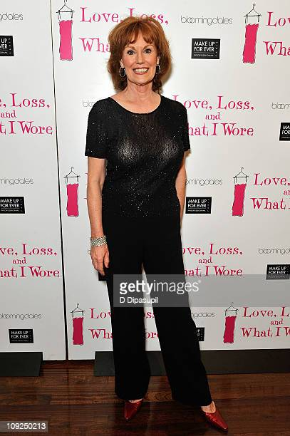 Actress Barbara Rhoades attends the Love Loss What I Wore New Cast Member Celebration at B Smith's Restaurant on February 17 2011 in New York City