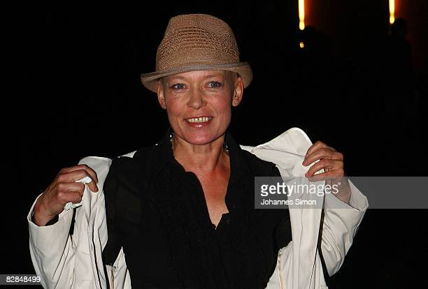 """Actress Barbara Rudnik attends the """"The Baader Meinhof Complex"""" German premiere at Mathaeser Cinema on September 16, 2008 in Munich, Germany. The..."""