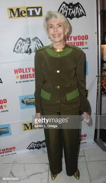 Actress Barbara Rush attends The Batman '66 Exhibit Opening held at The Hollywood Museum on January 10 2018 in Hollywood California
