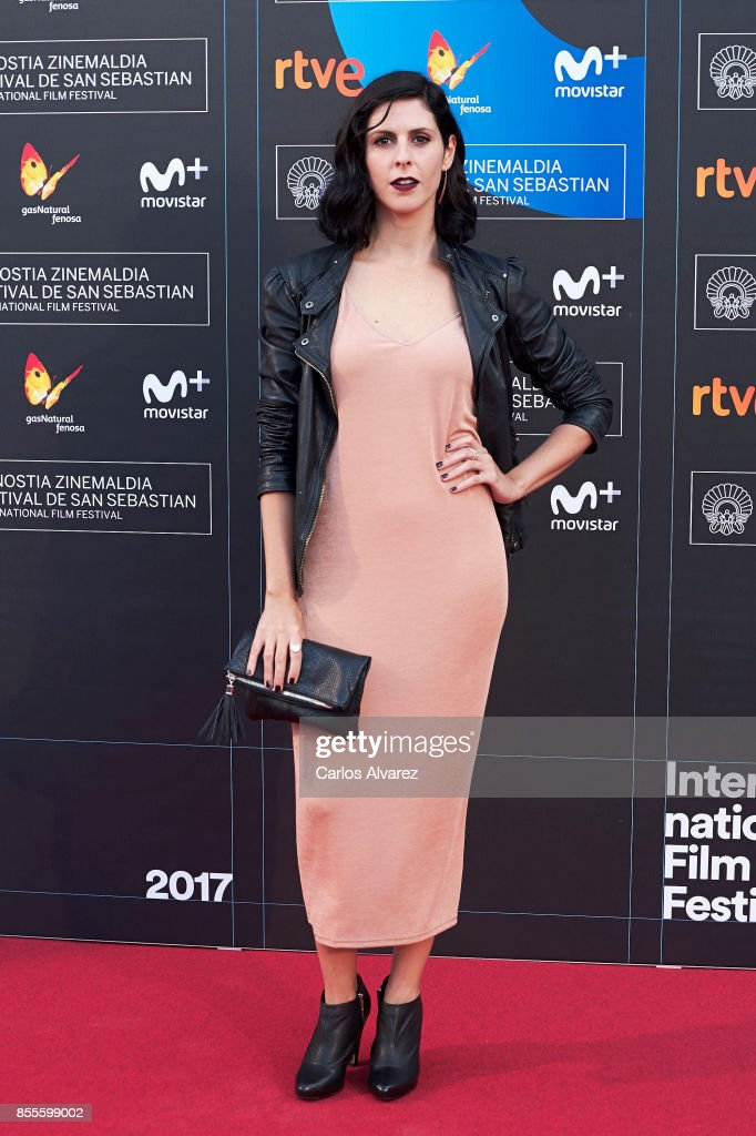 Actress Barbara Santa-Cruz on the red carpet for the premiere of the Netflix Film 'Fe De Etarras' at San Sebastian International Film Festival 2017 on September 29, 2017 in San Sebastian, Spain.