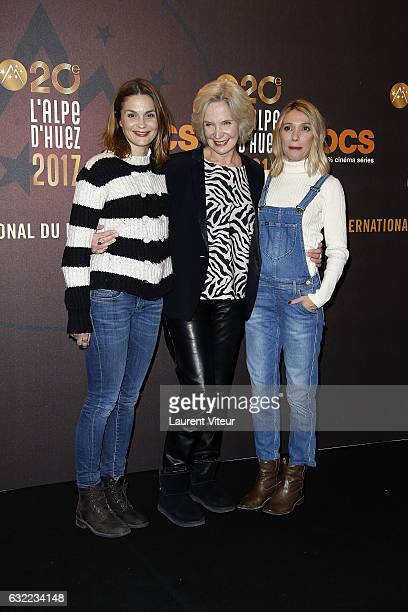 Actress Barbara Schulz MarieChristine Adam and Anne Marivin attend the Alibicom photocall during the 20th l'Alpe d'Huez International Comedy Film...
