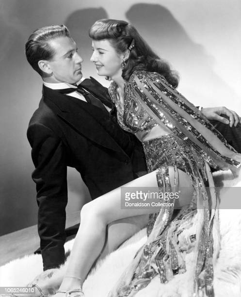 Actress Barbara Stanwyck and Gary Cooper in a scene from the movie Ball of Fire