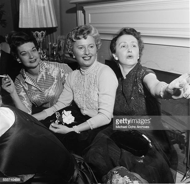 Actress Barbara Stanwyck attend a party in Los AngelesCA