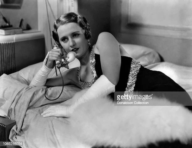 Actress Barbara Stanwyck in a scene from the movie Forbidden