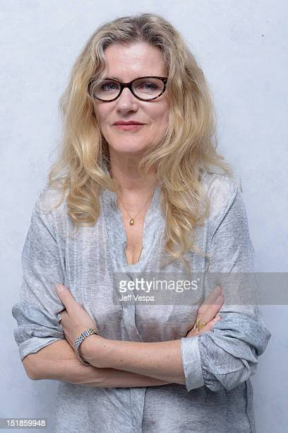 Actress Barbara Sukowa of 'Hannah Arendt' poses at the Guess Portrait Studio during 2012 Toronto International Film Festival on September 12 2012 in...