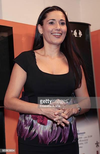 Actress Barbara Tabita attends '2009 Margutta Awards' at Margutta RistorArte on November 24 2009 in Rome Italy