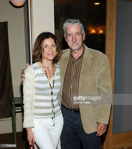 Actress Barbara Williams and former California State Senator/Political Activist Tom Hayden attend the Lisbeth Scott Concert at Kula on June 18 2011...
