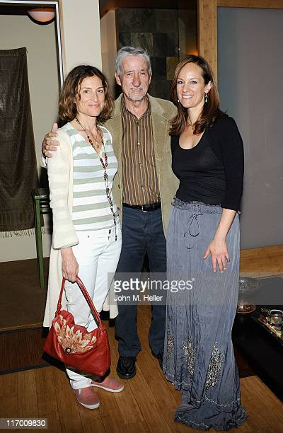 Actress Barbara Williams former California State Senator/Political Activist Tom Hayden and singer/songwriter Lisbeth Scott attend the Lisbeth Scott...