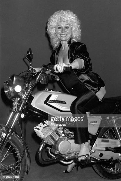 Actress Barbara Windsor on the Honda 100A a 100cc commuter bike She was visiting the International Motor Show at Earles Court in London Winners of...