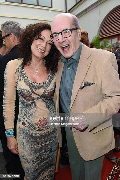 Actress Barbara Wussow and actor Peter Froehlich attend the Bavaria Reception at the Kuenstlerhaus as part of the Munich Film Festival 2014 on July 1...