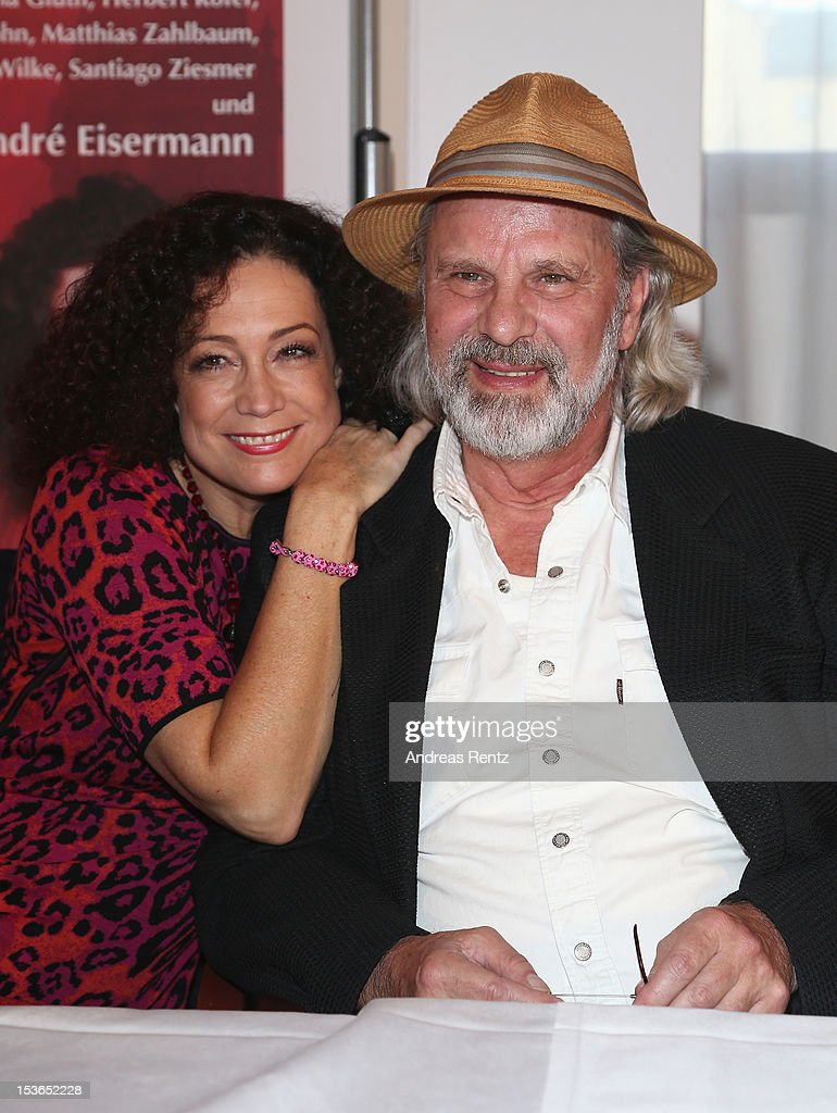 Actress Barbara Wussow and actor Peter Sattmann pose during a photocall to present the 'Jedermann' (Everyman) theater performance at Kempinski Hotel Bristol on October 8, 2012 in Berlin, Germany. The performances will take place at the Berliner Dom cathedral from October 18 to 28.
