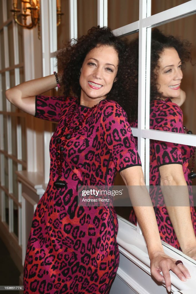 Actress Barbara Wussow poses during a photocall to present the 'Jedermann' (Everyman) theater performance at Kempinski Hotel Bristol on October 8, 2012 in Berlin, Germany. The performances will take place at the Berliner Dom cathedral from October 18 to 28.