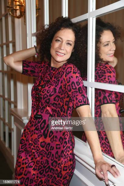 Actress Barbara Wussow poses during a photocall to present the 'Jedermann' theater performance at Kempinski Hotel Bristol on October 8 2012 in Berlin...