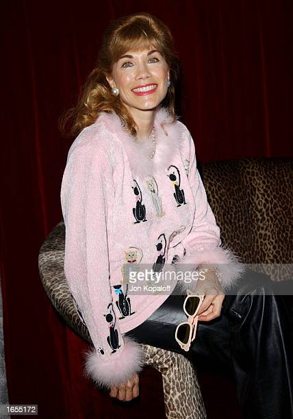 Actress Barbi Benton attends Barbi Benton's Birthday Purrfect Party for songwriter Carol Connors at the Jade West restaurant on November 21 2002 in...
