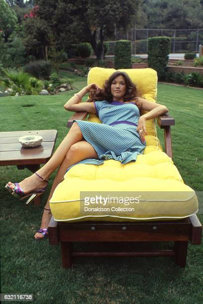 Actress Barbi Benton poses for a portrait session at home in circa 1979 in Los Angeles California