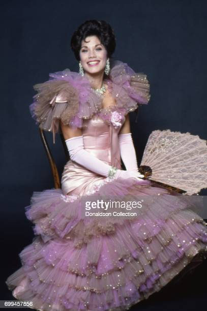 Actress Barbi Benton poses for a portrait session in the studio in 1982 in Los Angeles California