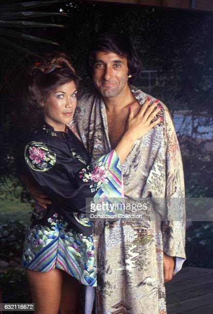 Actress Barbi Benton poses for a portrait with her husband George Gradow at home in circa 1979 in Los Angeles California