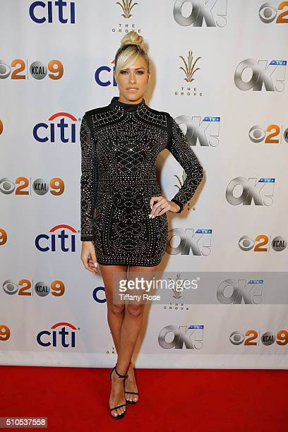 Actress Barbie Blank attends the red carpet viewing party at The Grove Presented by Citi and OK TV at The Grove on February 15 2016 in Los Angeles...