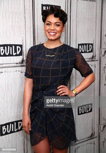 "Actress Barrett Doss discusses ""Groundhog Day"" at Build Studio on April 7, 2017 in New York City."