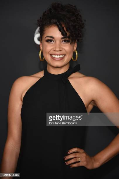 Actress Barrett Doss of Station 19 attends during 2018 Disney, ABC, Freeform Upfront at Tavern On The Green on May 15, 2018 in New York City.