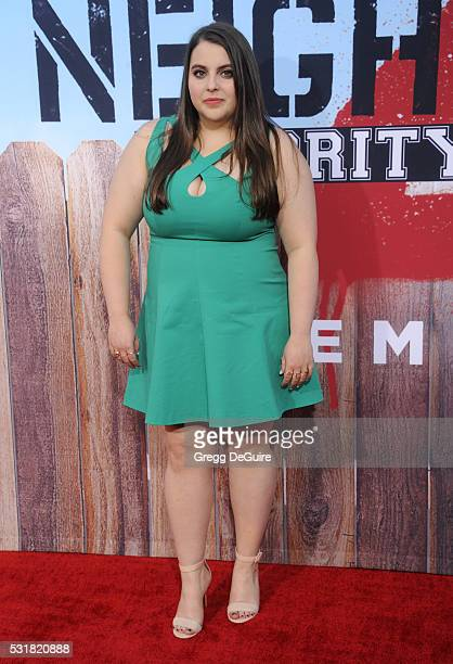 Actress Beanie Feldstein arrives at the premiere of Universal Pictures' 'Neighbors 2 Sorority Rising' on May 16 2016 in Westwood California