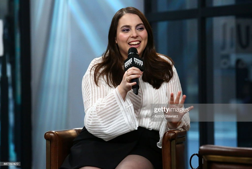 Actress Beanie Feldstein discusses the film 'Lady Bird' at Build Studio on December 7, 2017 in New York City.