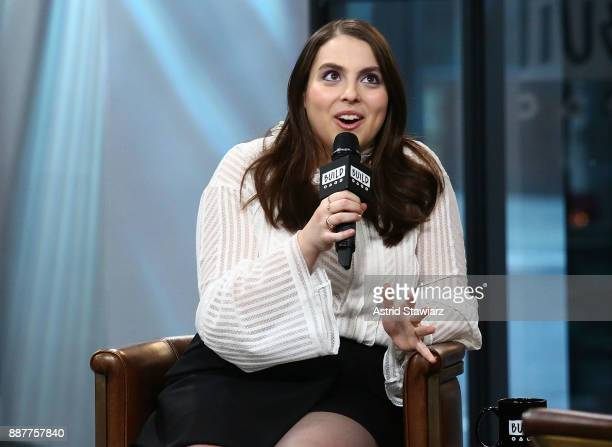 Actress Beanie Feldstein discusses the film 'Lady Bird' at Build Studio on December 7 2017 in New York City