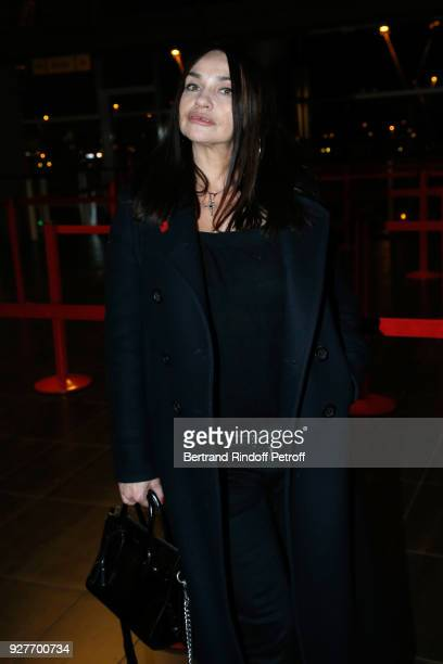"""Actress Beatrice Dalle attends the """"Chien"""" Paris Premiere at Mk2 Bibliotheque on March 5, 2018 in Paris, France."""