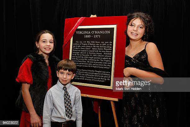 Actress Beatrice Miller Kieran Campbell and Taylor Hay attend a special premiere of the CBS animated holiday special YES VIRGINIA at the original...