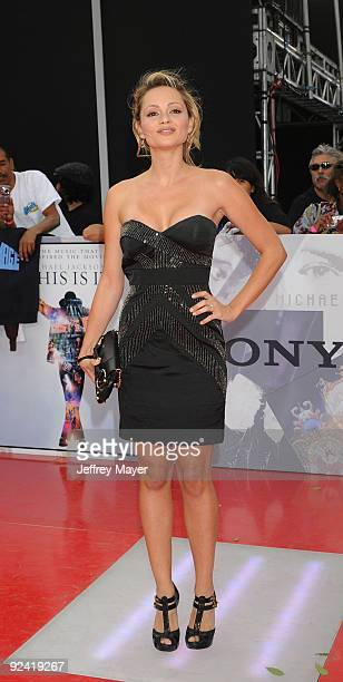 Actress Beatrice Rosen arrives at the Los Angeles Premiere of This Is It held at Nokia Theatre LA Live on October 27 2009 in Los Angeles California