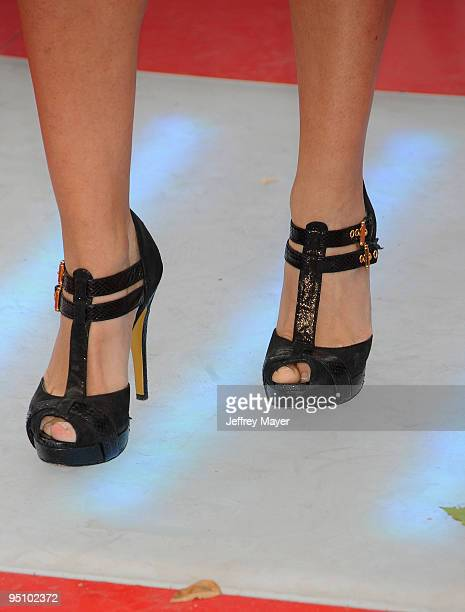 Actress Beatrice Rosen's shoes at the Los Angeles Premiere of This Is It held at Nokia Theatre LA Live on October 27 2009 in Los Angeles California