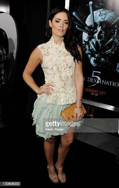Actress Beau Dunn arrives at a screening of New Line Cinema's 'Final Destination 5' at the Chinese Theater on August 10 2011 in Los Angeles California