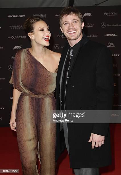 Actress Beau Garrett and actor Garrett Hedlund arrive for the Michalsky StyleNite during the Mercedes Benz Fashion Week Autumn/Winter 2011 at...
