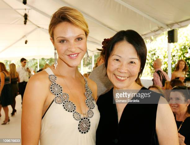 Actress Beau Garrett and Dr Helena Chang inside the Couture Cares exclusive Nina Ricci fashion show and luncheon to benefit Revlon/UCLA sponsored by...