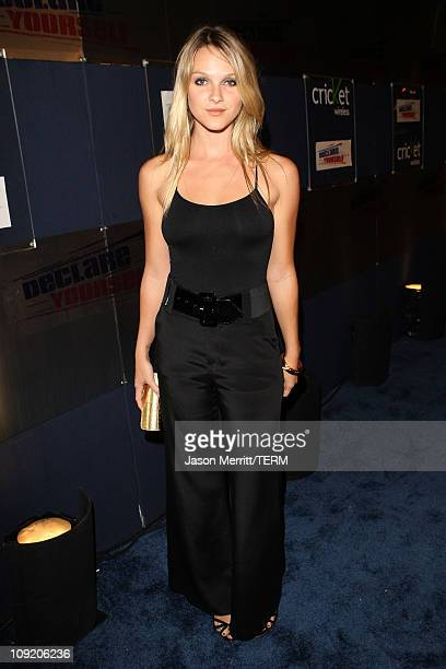 Actress Beau Garrett arrives at the Declare Yourself Hollywood Turns 18 at the Beverly Hills Cultural Arts Center on September 27 2007 in Beverly...