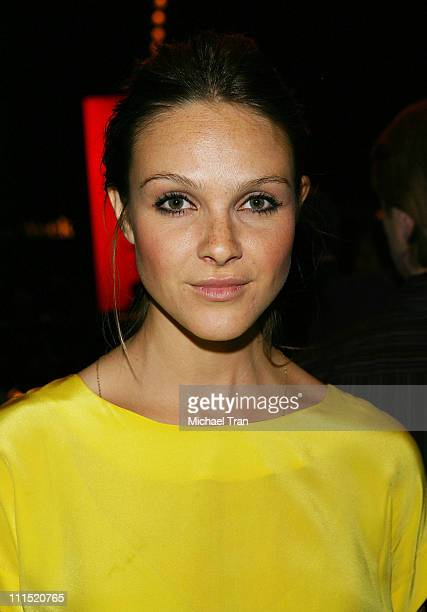Actress Beau Garrett front row at Whitley Kros Fall 2008 collection during Mercedes Benz LA Fashion Week held at Smashbox Studios on March 9 2008 in...
