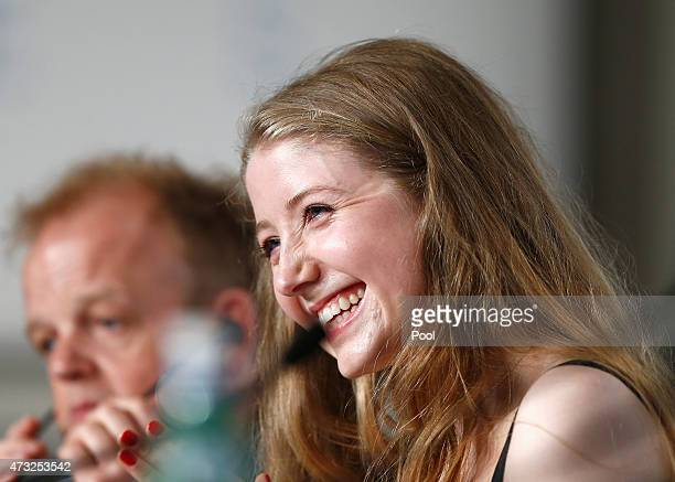 Actress Bebe Cave attends the press conference for Il Racconto Dei Racconti during the 68th annual Cannes Film Festival on May 14 2015 in Cannes...