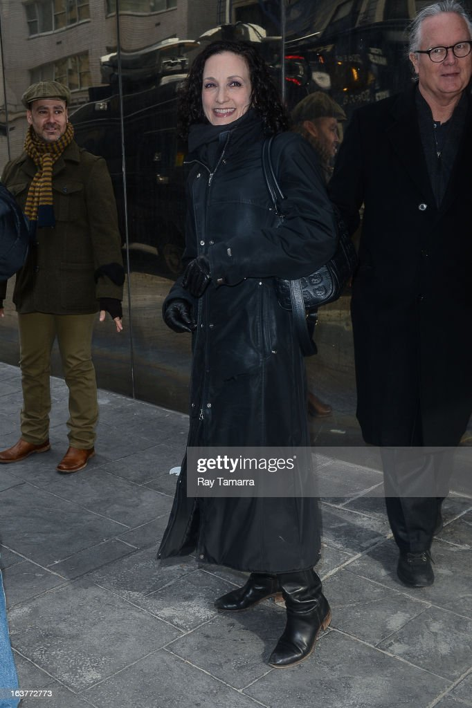 Actress Bebe Neuwirth leaves the 'Good Day New York' taping at the Fox 5 Studios on March 15, 2013 in New York City.