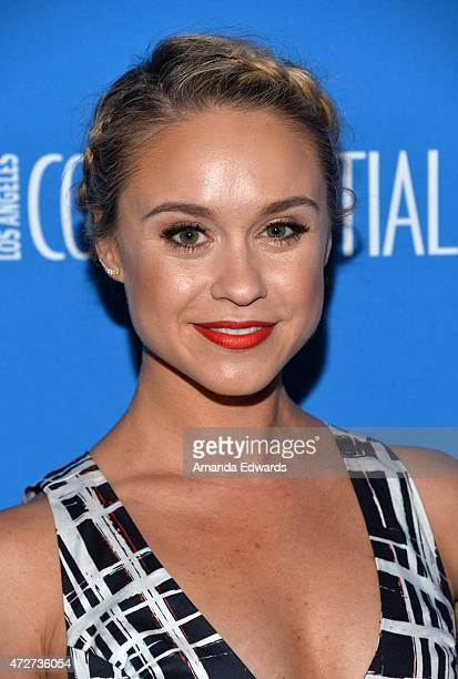 Actress Becca Tobin arrives at the 3rd Annual Nautica Oceana Beach House Party at the Marion Davies Guest House on May 8 2015 in Santa Monica...
