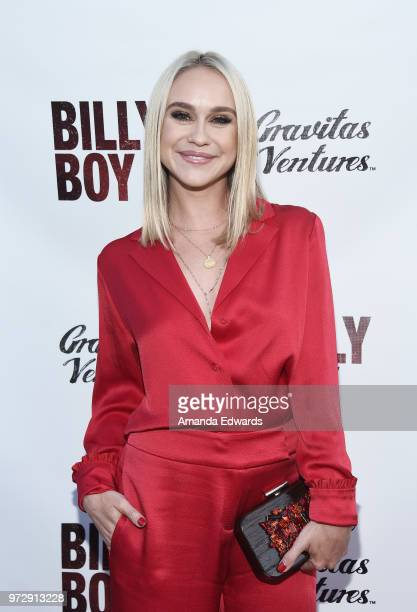 Actress Becca Tobin arrives at the Los Angeles premiere of 'Billy Boy' at the Laemmle Music Hall on June 12 2018 in Beverly Hills California