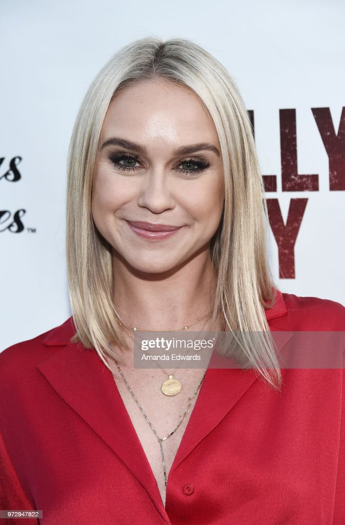 Actress Becca Tobin arrives at the Los Angeles premiere of 'Billy Boy' at the Laemmle Music Hall on June 12, 2018 in Beverly Hills, California.