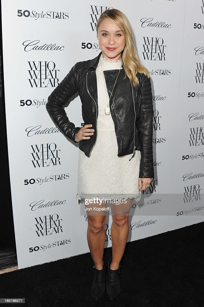 Actress Becca Tobin arrives at Who What Wear And Cadillac's 50 Most Fashionable Women Of 2013 at The London Hotel on October 24, 2013 in West Hollywood, California.