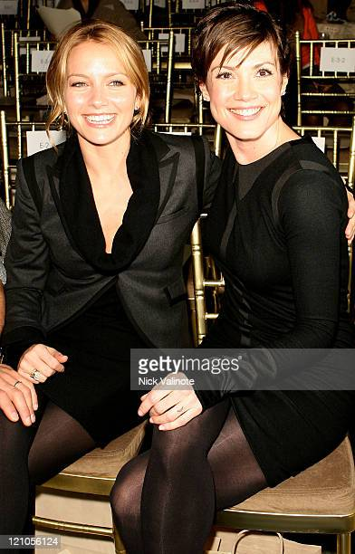 Actress Becki Newton and Zoe McLellan attend the Rag Bone Fall 2008 runway show during MercedesBenz Fashion week on February 1 2008 in New York City
